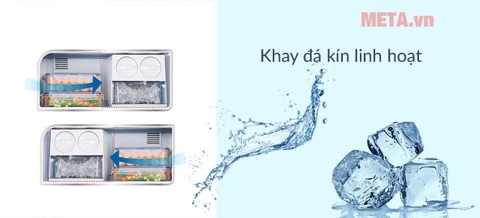 Tủ lạnh Panasonic inverter 234 lít NR-BL267VSV1 có khay đựng đá linh hoạt, để được ở nhiều vị trí