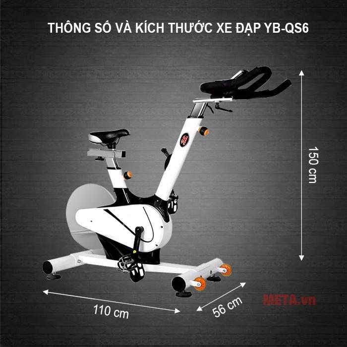 Xe đạp tập YB-QS6 có thiết kế hiện đại, dễ dàng luyện tập