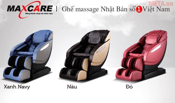 Ghế massage toàn thân Maxcare Max 668 mang nhiều màu sắc