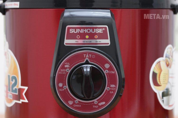 Các chế độ nấu của nồi áp suất điện đa năng Sunhouse SHD1562