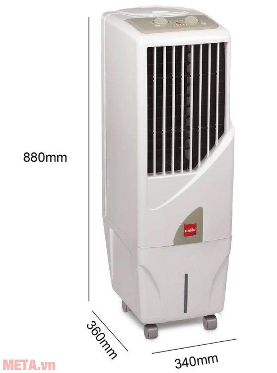 Kích thước của máy làm mát Air Cooler Cello Tower 15