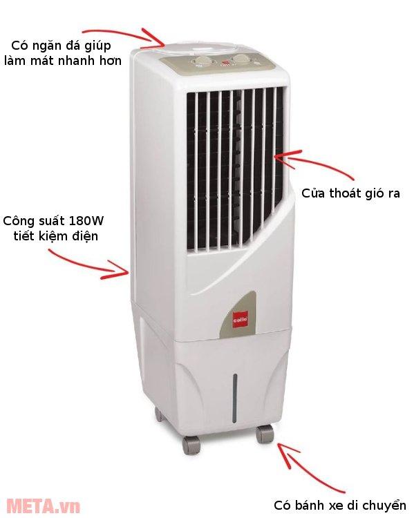Máy làm mát Air Cooler Cello Tower 15 có bánh xe di chuyển