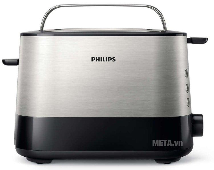 Máy nướng bánh mì Sandwich Philips HD2637 có vỏ máy bằng kim loại