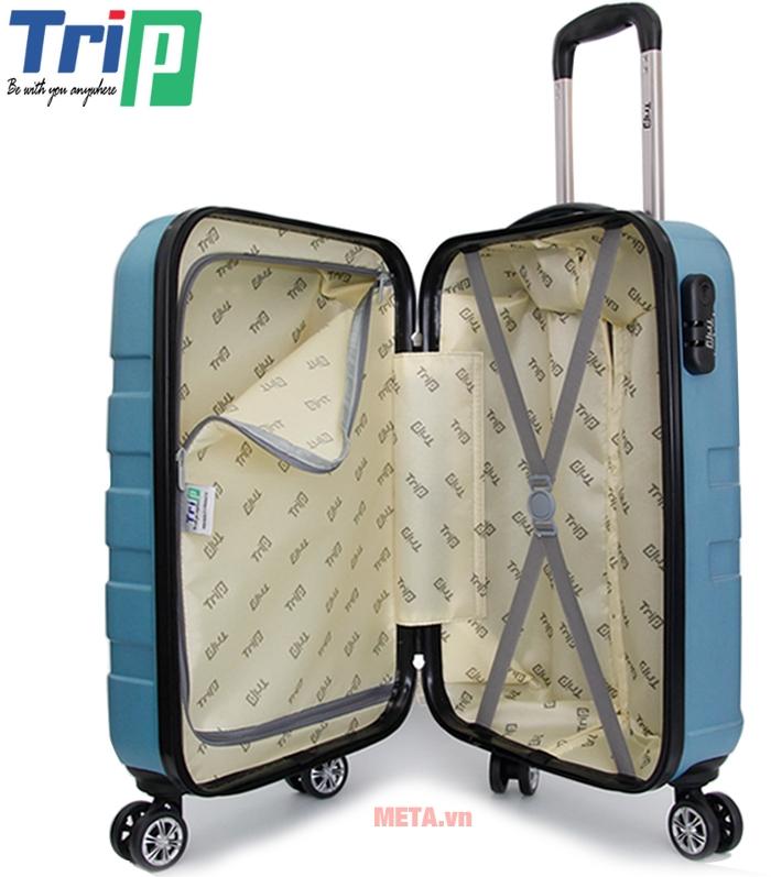 Thiết kế bên trong vali kéo Trip P12