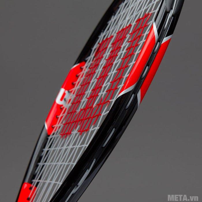 Vợt tennis trẻ em Wilson Roger Federer 25 WRT200800 sơn màu đỏ đen sang trọng