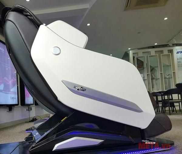 Góc ngang ghế massage Max669 màu Nâu-Trắng