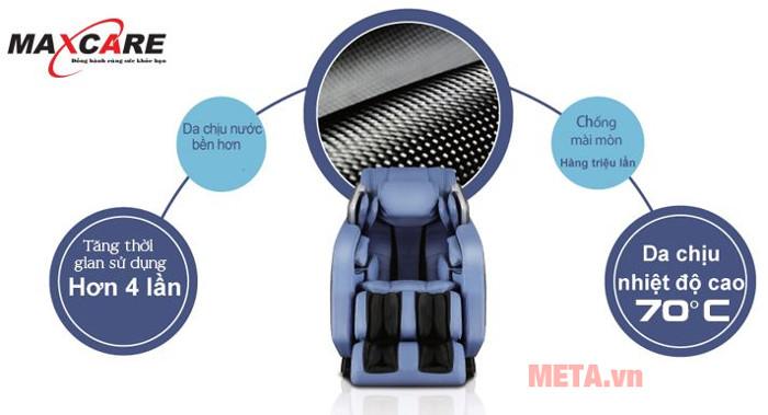Ghế massage toàn thân Max-669 có da bền hơn với chất liệu cao cấp