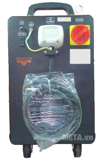 Máy hàn bán tự động Jasic MIG500 (J8110) có quạt tản nhiệt phía sau máy