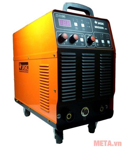 Máy hàn bán tự động Jasic MIG500 (J8110) có 4 bánh xe di chuyển