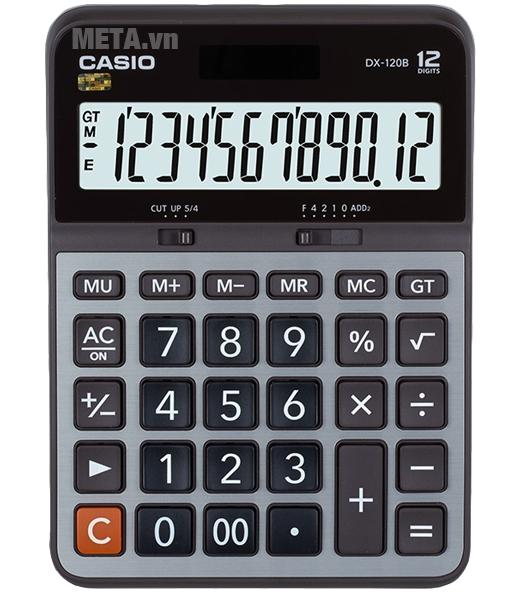 Máy tính bỏ túi Casio DX-120B có lưu trữ bộ nhớ đệm