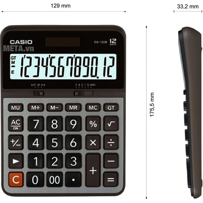 Máy tính bỏ túi Casio DX-120B chính xác từng con số