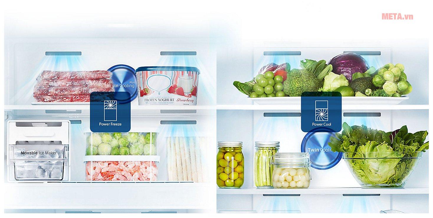 Tủ lạnh Samsung Digital Inverter 586 lít RT58K7100BS/SV hoạt động với công suất mạnh mẽ