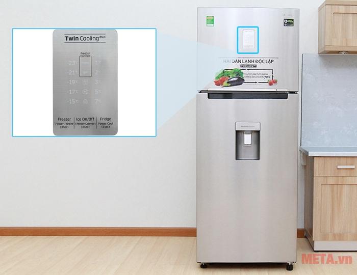Tủ lạnh Samsung Digital Inverter 451L RT46K6836SL/SV có phím điều khiển bên ngoài