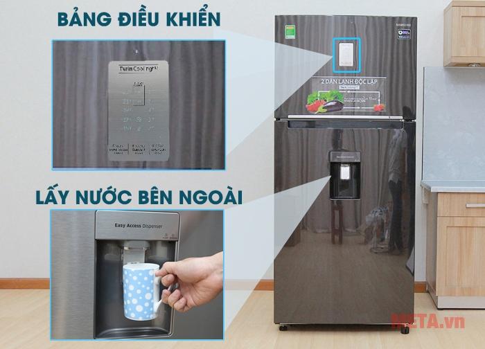 Tủ lạnh Samsung RT50K6631BS/SV có chế độ lấy nước bên ngoài tiện lợi