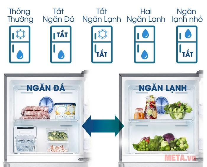 5 chế độ hoạt động của tủ lạnh Samsung RT50K6631BS/SV