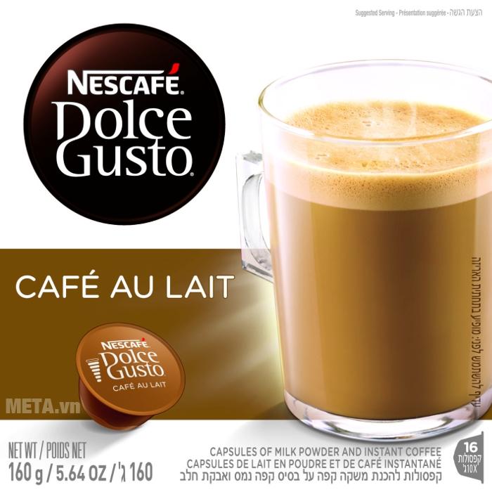 Viên nén cà phê vị cà phê sữa Nescafe Dolce Gusto – Café Au Lait