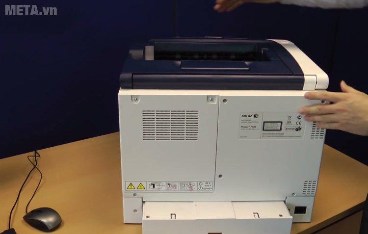 Mặt sau của máy in Fuji Xerox Phaser 7100N