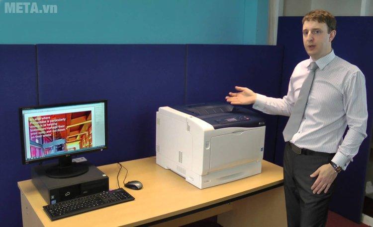 Máy in Fuji Xerox Phaser 7100N nhỏ gọn, đặt bàn không tốn diện tích