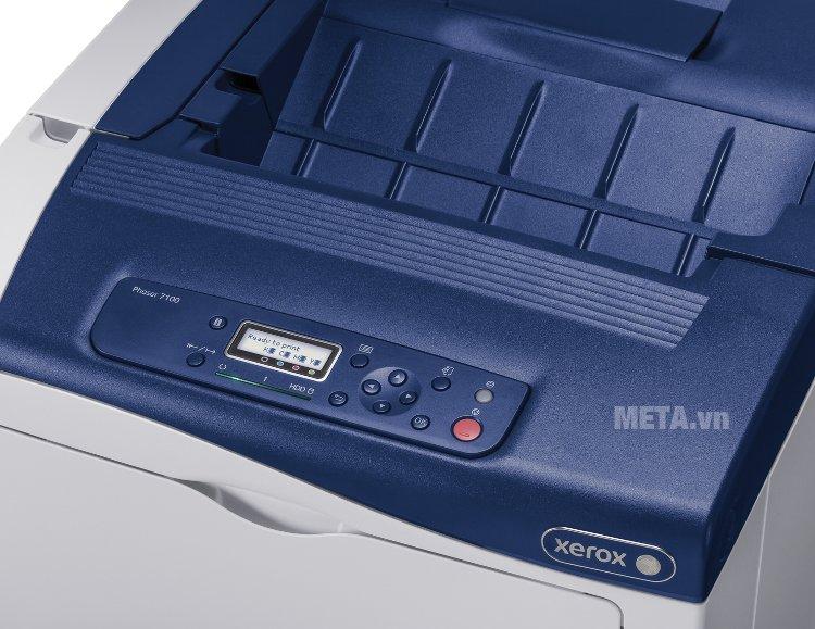 Máy in Fuji Xerox Phaser 7100N có bảng điều khiển dạng nút bấm