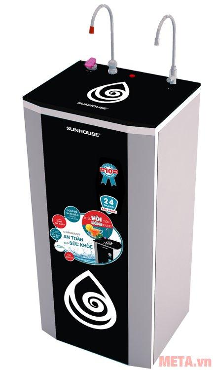 Nước lọc với máy lọc nước R.O 9 lõi Sunhouse SHR7529CK có thể uống trực tiếp mà không cần đun sôi