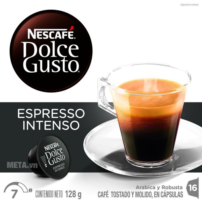 Viên nén cà phê vị cà phê rang xay Nescafe Dolce Gusto - Espresso Intenso quyến rũ vị nồng the