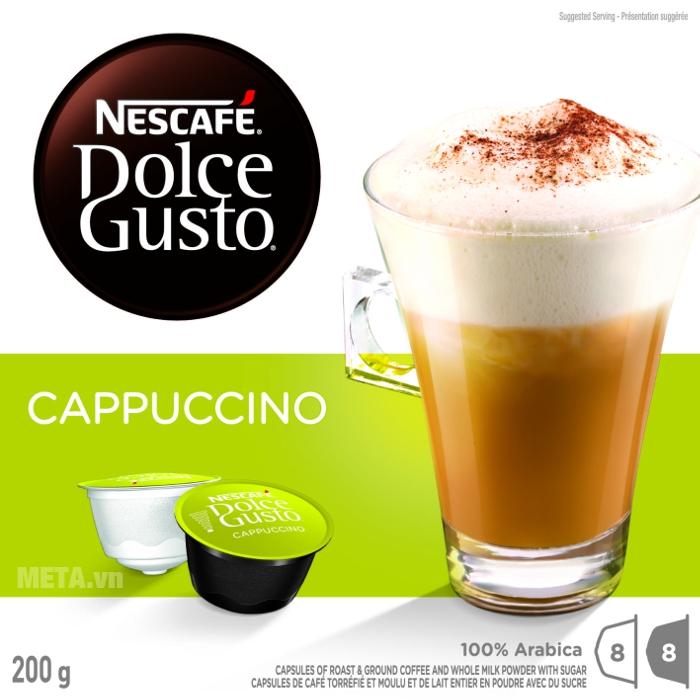 Viên nén cà phê vị cà phê sữa Nescafe Dolce Gusto – Cappuccino béo mịn nức lòng người dùng
