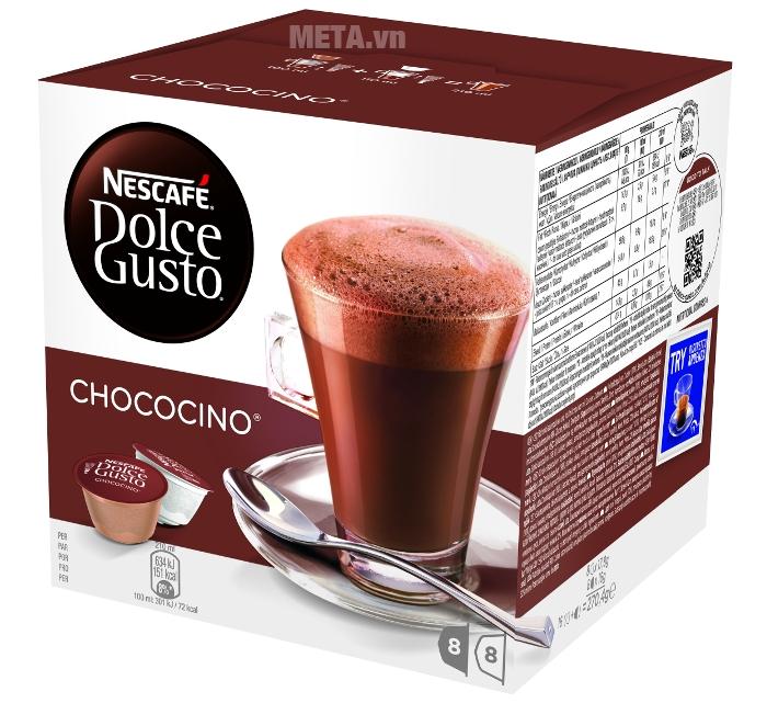 Viên nén cà phê Capsule vị socola sữa Nescafe Dolce Gusto - Chococino đậm đà hương vị ngọt ngào
