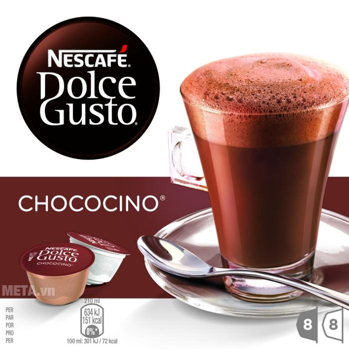 16 viên nén cà phê Capsule vị socola sữa Nescafe Dolce Gusto - Chococino