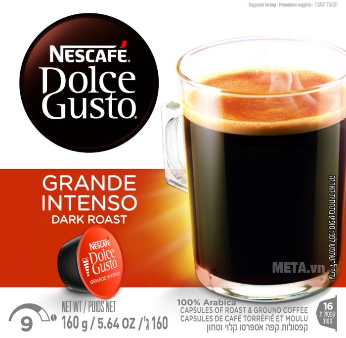 Viên nén Capsule - Grande Intenso đậm đà hương vị rang xay nguyên chất