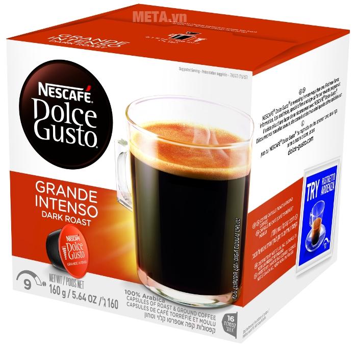 Viên nén cà phê rang xay Nescafe Dolce Gusto - Grande Intenso 16 viên