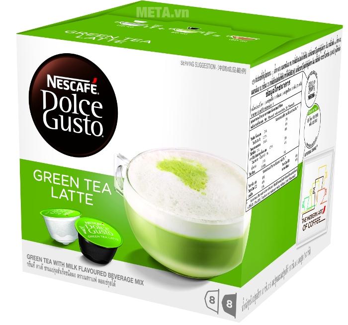 Green Tea Latte đúng điệu từ viên nén cà phê vị trà xanh sữa Nescafe Dolce Gusto
