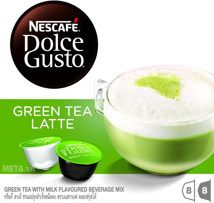 Hương trà xanh green milk đúng điệu trong 16 viên nén