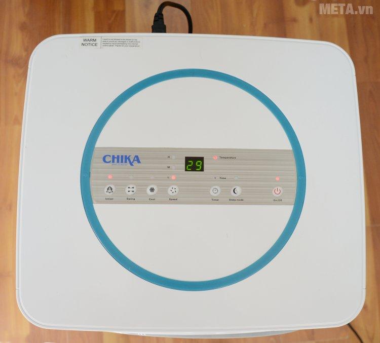 Máy làm mát Chika CK16B có đèn hiển thị khi hoạt động