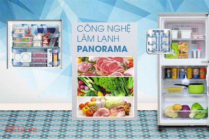 Công nghệ làm lạnh Panorama làm lạnh đến từng góc nhỏ của tủ