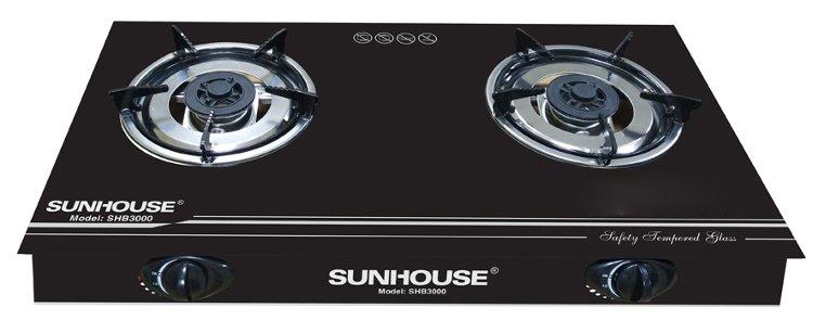 Bếp ga dương kính Sunhouse SHB3000 có kiềng 5 chân vững chắc