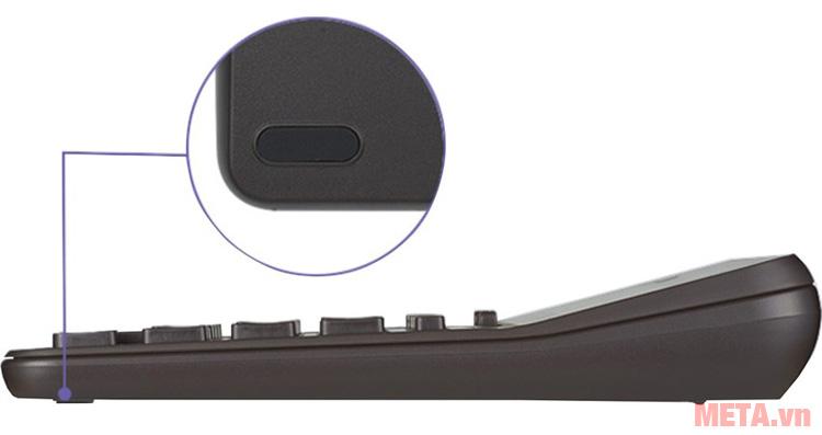 Máy tính cầm tay Casio DX-12B có chân đế chống trơn trượt