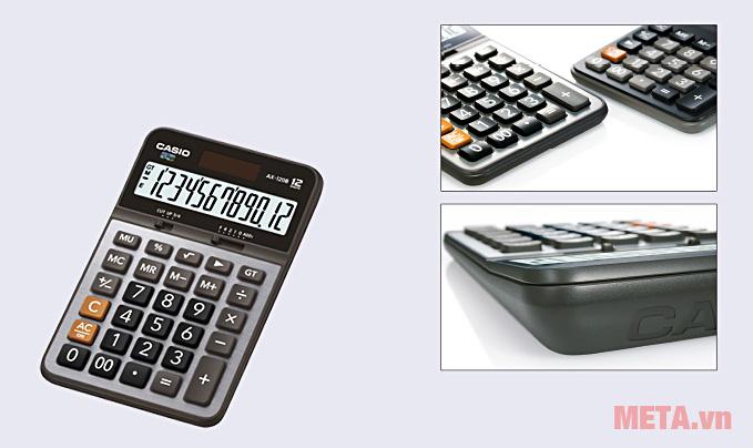 Máy tính bỏ túi Casio DX-12B với kiểu dáng hiện đại, nhỏ gọn
