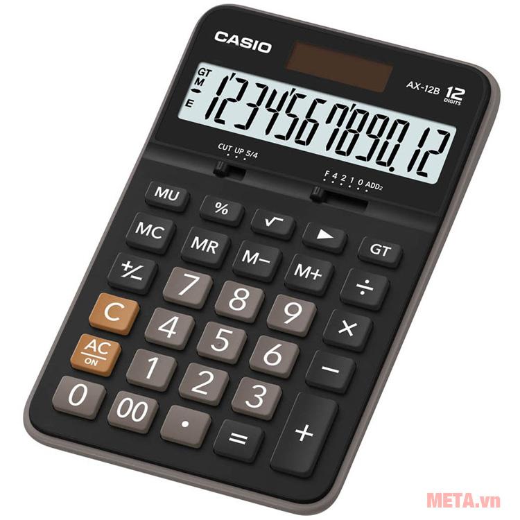 Máy tính bỏ túi Casio DX-12B có thể tính nhiều phép tính cùng lúc