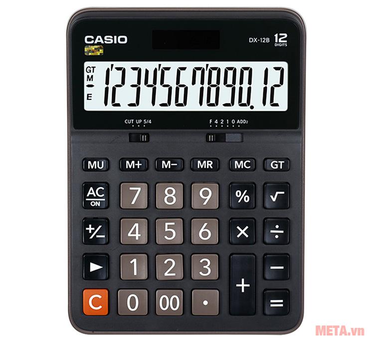 Máy tính bỏ túi Casio DX-12B giúp bạn nhanh chóng tính toán