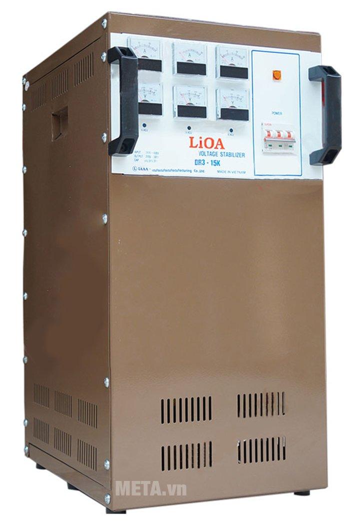 Ổn áp 3 pha Lioa 15KVA DR3 15K giúp ổn định điện áp hiệu quả