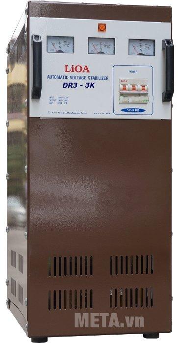 Ổn áp 3 pha Lioa 3KVA DR3 3K có kiểu dáng công nghiệp
