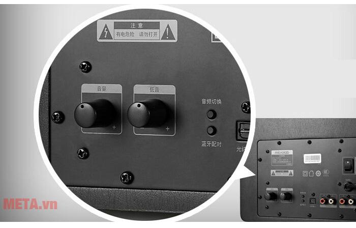 Loa vi tính Microlab FC70BT có nút điều chỉnh tiện dụng
