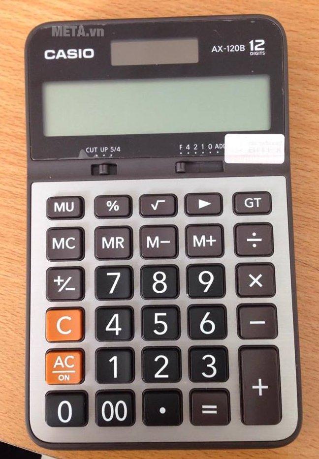 Máy tính bỏ túi Casio AX-120B có thiết kế nhỏ gọn
