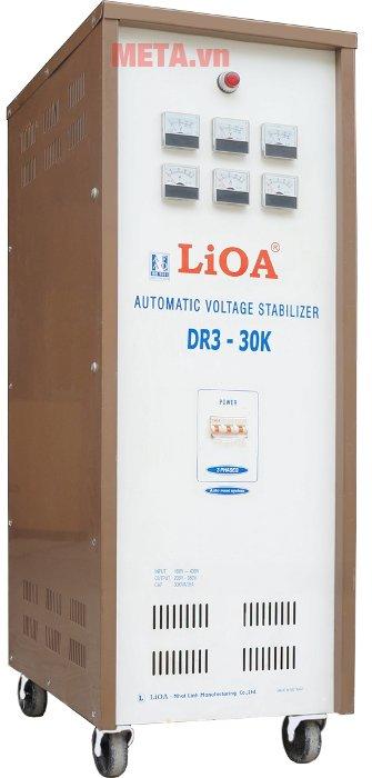 Ổn áp 3 pha Lioa 30KVA DR3 30K có dải điện áp rộng