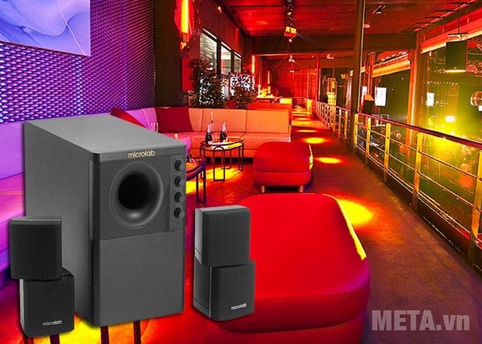 Loa vi tính Microlab X-3 2.1 giúp bạn tận hưởng không gian âm nhạc sống động