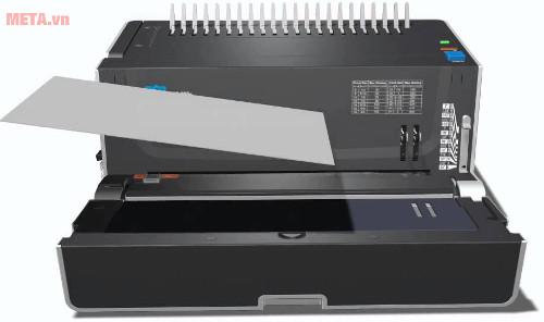 Máy đóng sách gáy xoắn nhựa DSB CB-200E có kiểu dáng như một chiếc máy in
