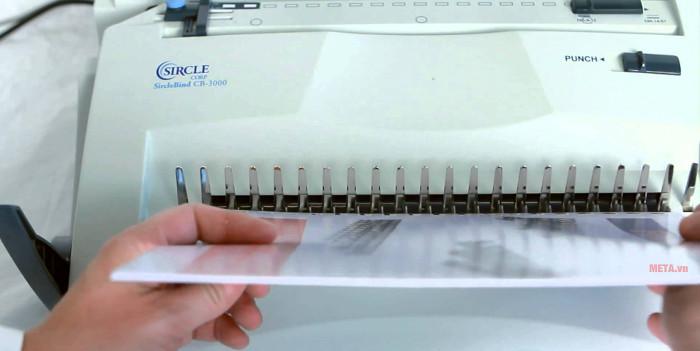 Máy đóng sách gáy xoắn nhựa DBS CB-3000 có khay đựng lò xo