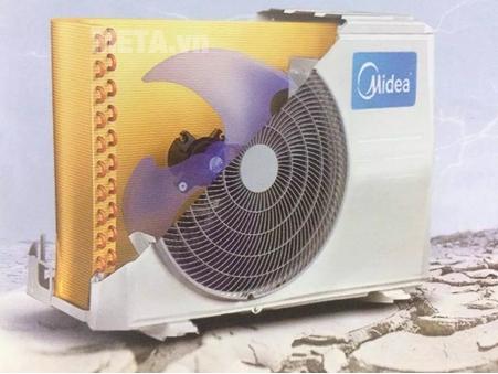 Cục nóng được trang bị mô tơ cực bền