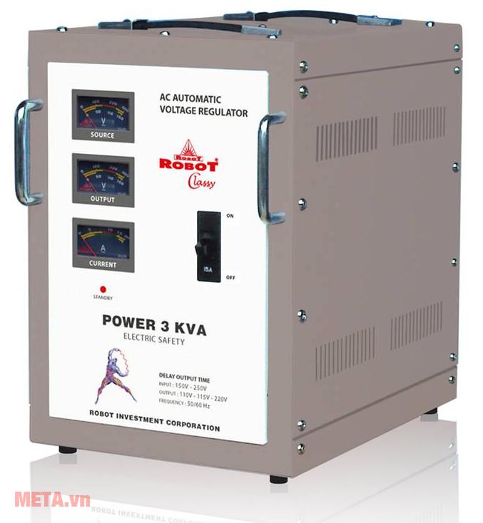 Ổn áp Robot Classy 3KVA là thiết bị giúp ổn định dòng điện hiệu quả