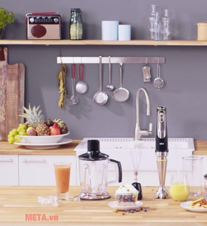 Máy xay Braun MQ9045 Aperitive phù hợp với không gian bếp gia đình